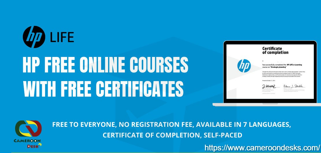 HP Free Online Courses with Free Certificates 2021