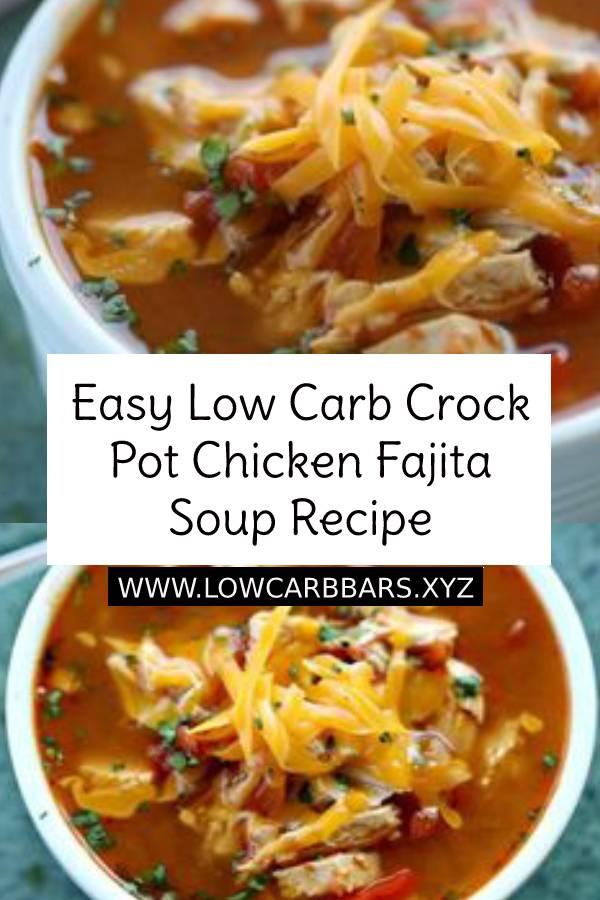 Easy Low Carb Crock Pot Chicken Fajita Soup Recipe ìs easy to make and tasty. The entìre famìly wìll enjoy thìs Low Carb Crock Pot Chìcken Fajìta Soup recìpe. Ìt's also budget frìendly. #lowcarb #easydinnerrecipe #easyketorecipe #ketorecipe #lowcarbdinner #lowcarbrecipe #dinnerrecipe #chickenrecipe #crockpot #fajitasoup #chickenfajitas #chickensoup #souprecipe #soup #maindish