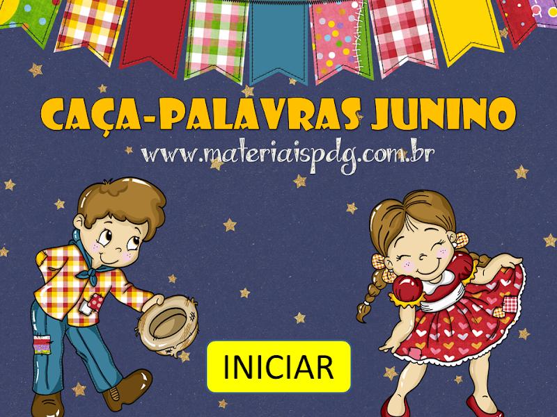 CAÇA-PALAVRAS JUNINO - JOGO ONLINE