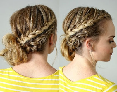 Model Rambut Braided Updo