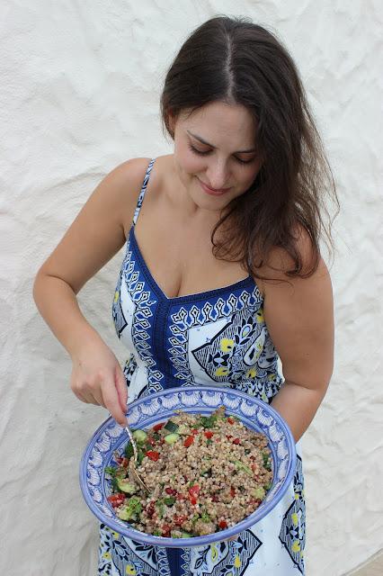 herby buckwheat tabbouleh