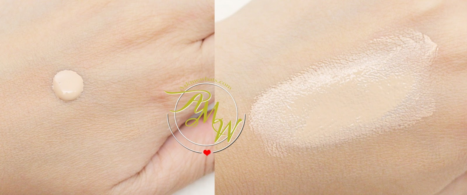 a swatch photo of Guerlain Lingerie De Peau review in shade 02N Light
