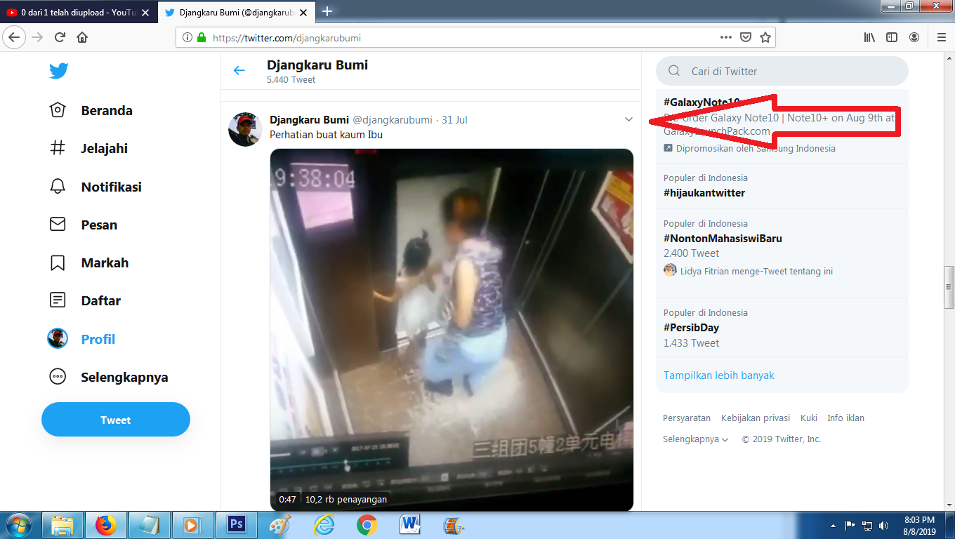 Share Video di Twitter