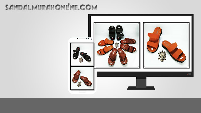 Sandal Kulit Imitasi Bahan Premium- Sandal OKL RDX