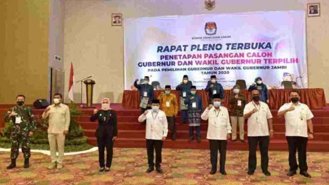 Pj. Gubernur Jambi Hari Nur Cahya Murni Hadiri Rapat Pleno KPU