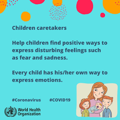 WHO coronavirus advice children mental health