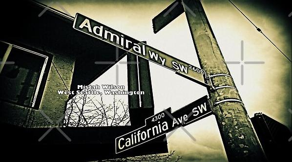 Admiral Way Southwest & California Avenue Southwest, West Seattle, Washington by Mistah Wilson
