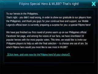 Filipino's Special Hero in Mobile Legends – Vote to Help Them Name It