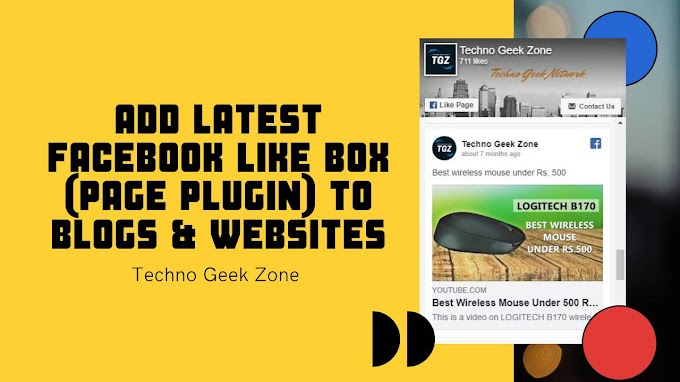 Add Latest Facebook Like Box (Page Plugin) to Blogger and Wordpress Blogs and Websites