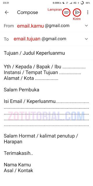 Format dan Cara Kirim E-Mail di HP Smartphone Android