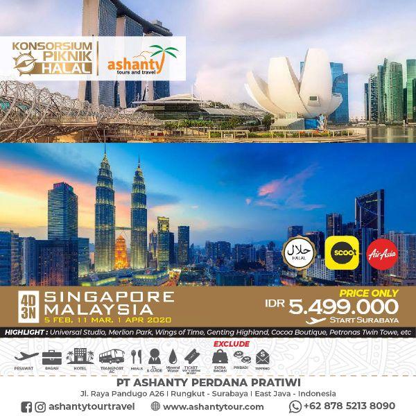 paket tour singapore malaysia dari surabaya