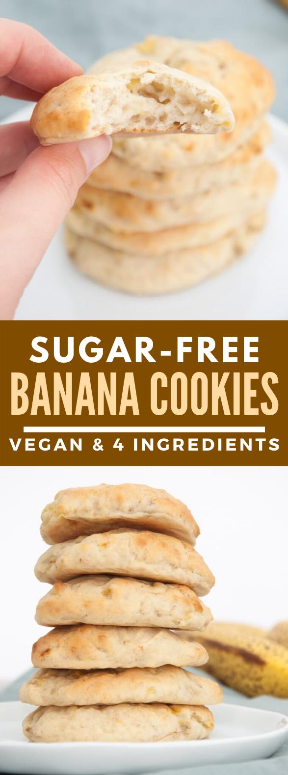 SUGAR-FREE BANANA COOKIES #dessert #vegan