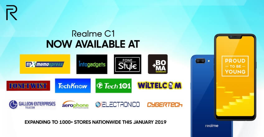 Realme C1 Now Available at 1000+ Stores Nationwide