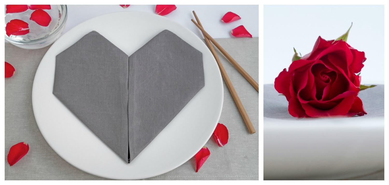 Super Servetten vouwen voor Valentijnsdag, bruiloft en Moederdag AR-93
