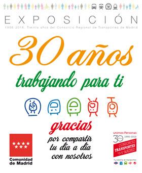 Exposición '30 años trabajando para ti' del CRTM en Moncloa