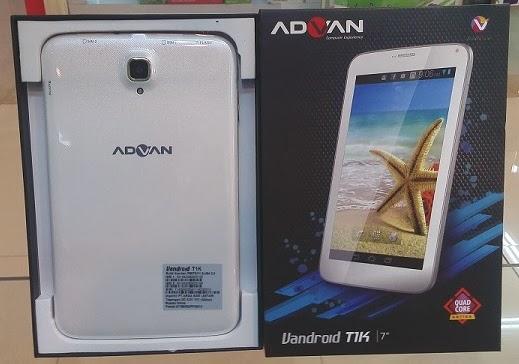Advan Vandroid T1K, Tablet Harga Rp1.5 Juta Spesifikasi Quad-core 3G