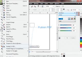 membuat pdf di corel draw