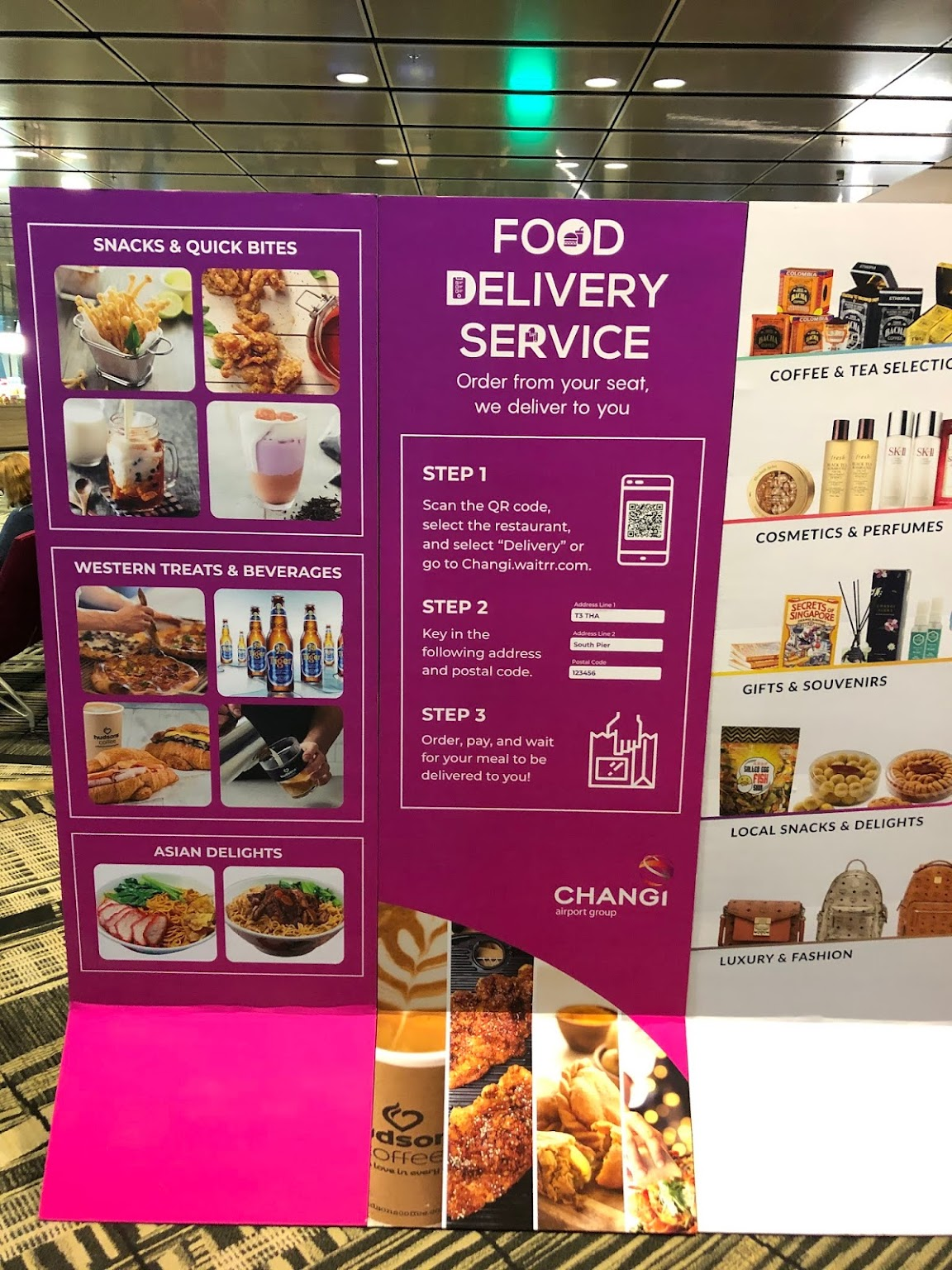 singapore transit area and food ordering during the covid pandemic
