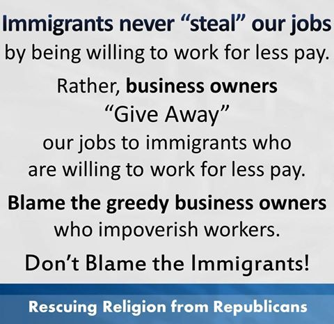 are immigrants stealing u s jobs Are immigrants taking your job a primer by catherine rampell february 5,  that's because immigrants raise the wages of native-born workers.