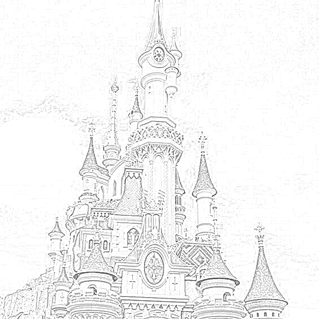 Cinderella's Castle at Walt Disney World coloring.filminspector.com