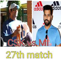 Cricket Live score IPL 2018 MI vs CSK
