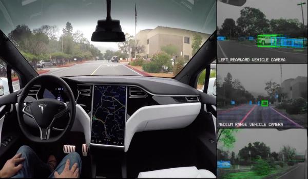 مدهش: تيسلا تستعرض نظام سيراتها الذكية ذاتية القيادة (فيديو)