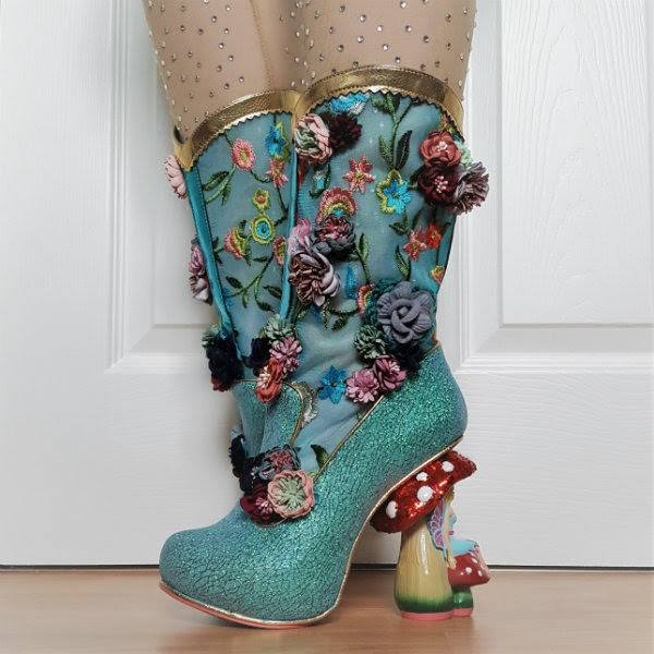 wearing irregular choice glitter fairy boots