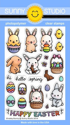 Sunny Studio Stamps: Introducing Chubby Bunny 4x6 Photopolymer Clear Easter Stamps