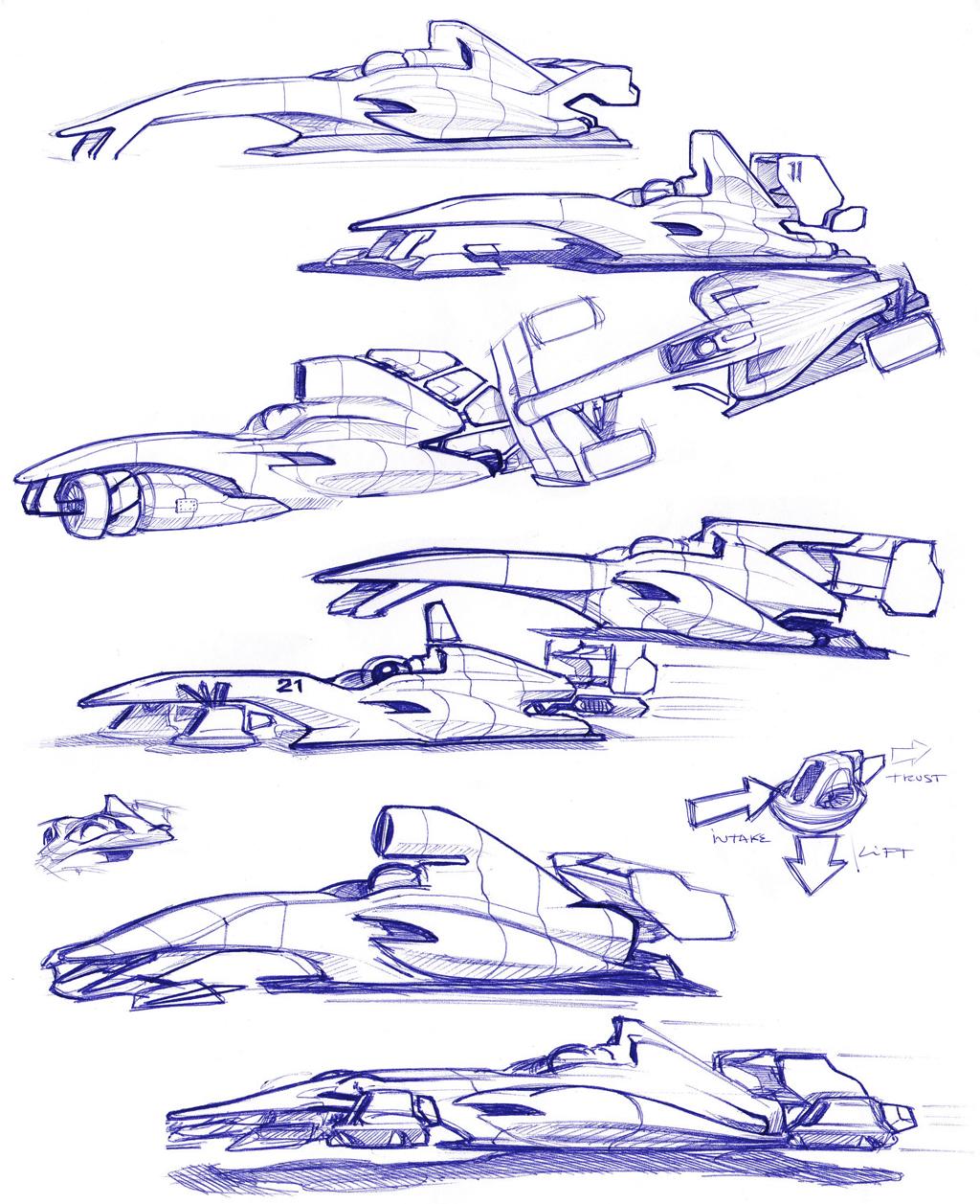 Random F1 Drawings Ludedesign
