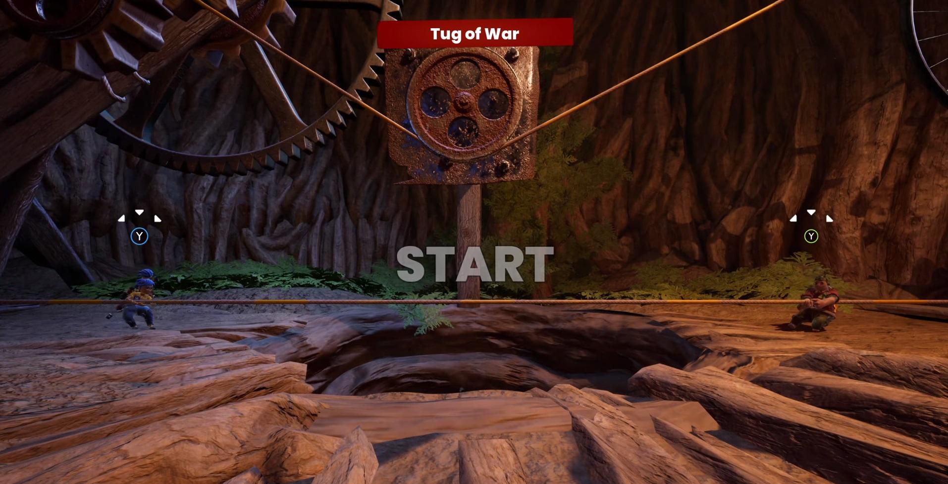 "Mini-game number 3 ""Tug of war"""