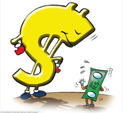 dollar devaluing rupee