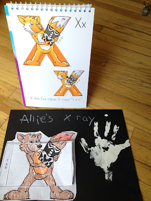 Teach letter X preschool activity