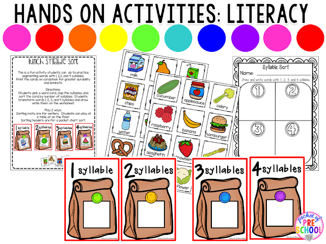 Grocery Store and Food Centers Pocket of Preschool – Grocery Words