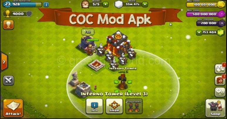 clash of clans mod apk latest version 2109 - Sacred Dreams