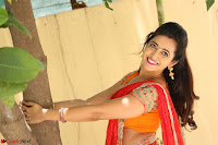 Lasya Cute Beauty in Saree Backless Choli at her Interview ~  Exclusive 209.JPG
