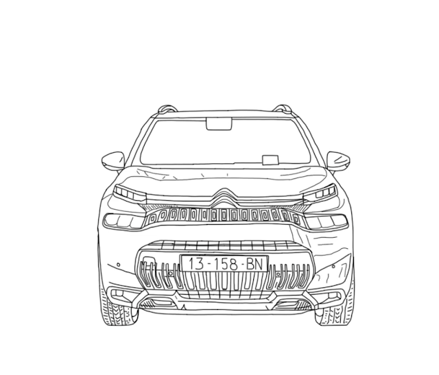 How to Draw Citroen C3 Aircross 2022 (in five steps)