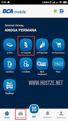 Menu M-BCA - hostze.net