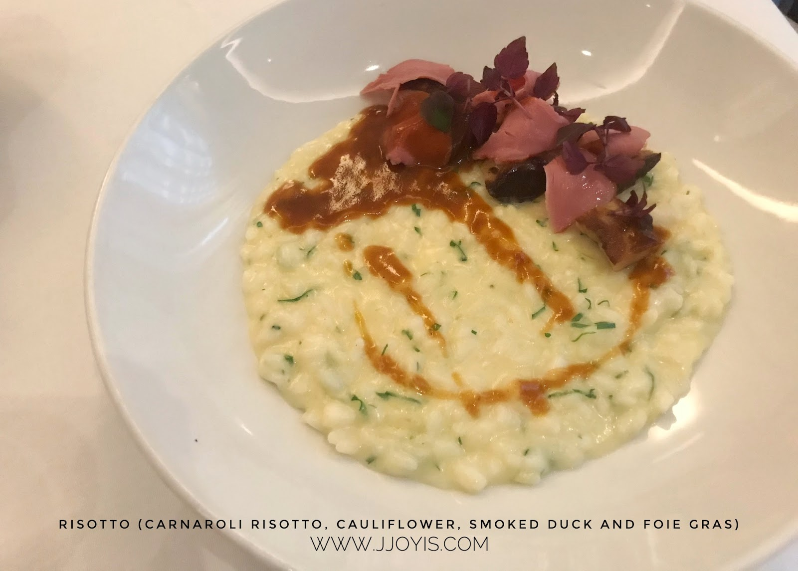 risotto creamy tablescape european dining review