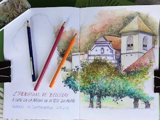 #abbatialebellelay #abbatiale #bellelay a côté de la #maisondelatêtedemoine #tetedemoine #jura #dessindujour #dessin #drawings #drawing #crayon #crayondecouleur #colordrawing #colourdrawing #monumenthistorique #monument #church #insitu