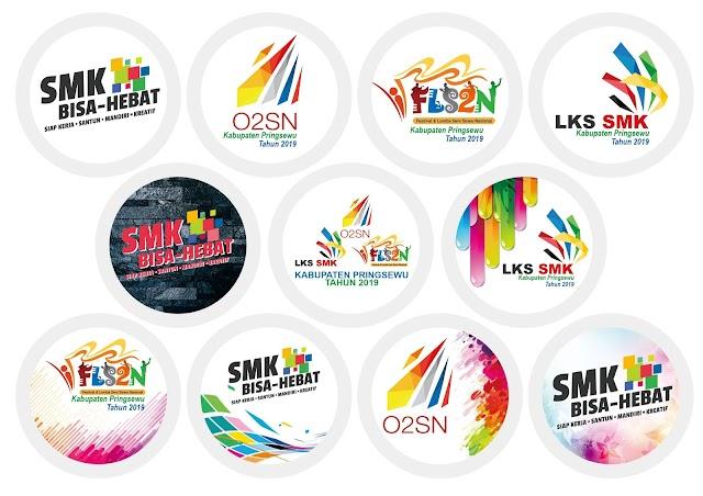 Desain Pin Cinderamata LKS O2SN FLS2N Kabupaten Pringsewu