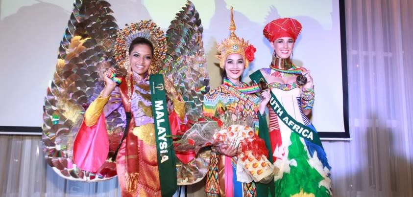 National Costume winners! Gold - Thailand, Silver - South Africa, Bronze - Malaysia