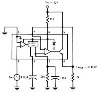 Light circuit diagram: Frequency to Voltage Converter Circuit