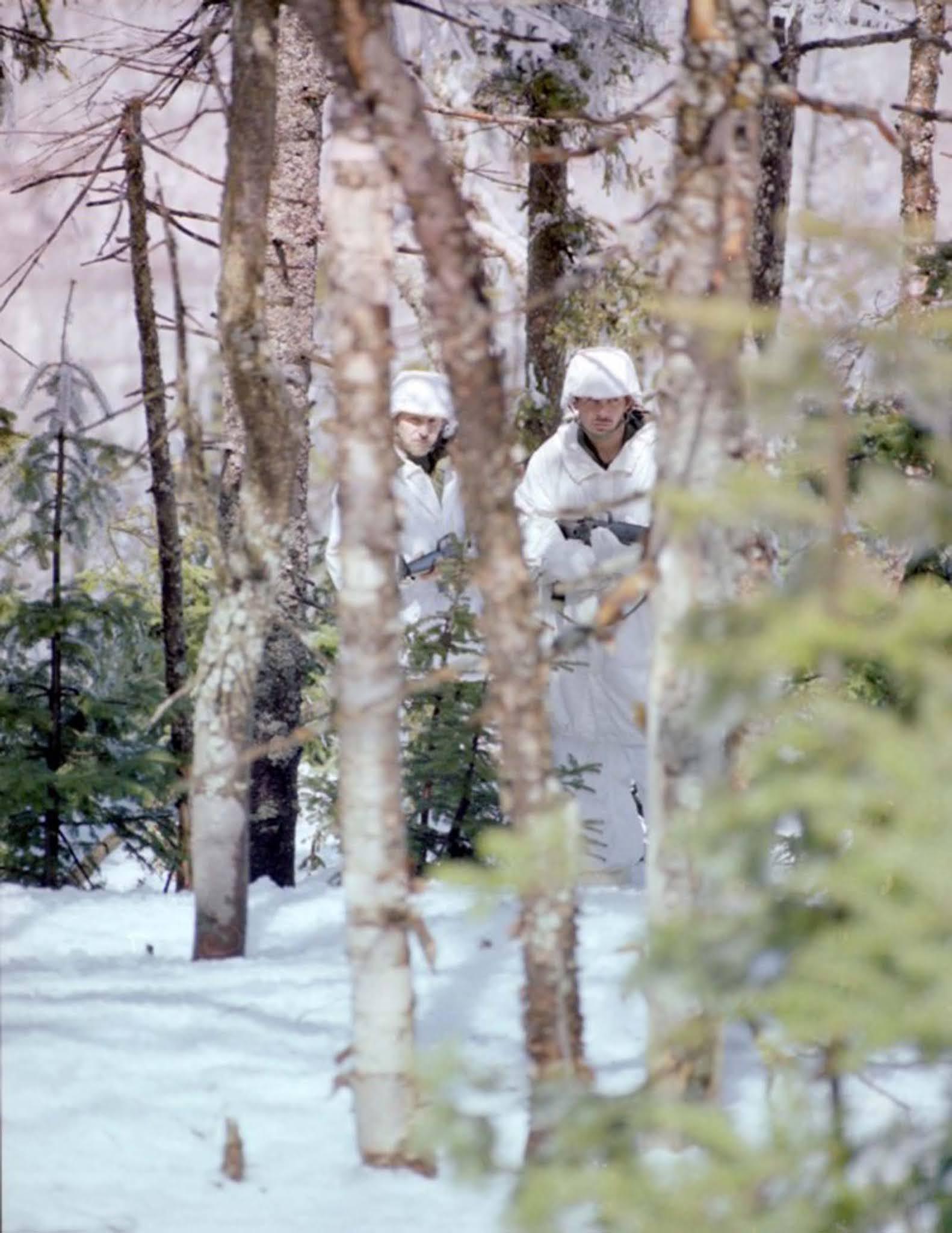 Camouflage snow suits, c. 1951–1984.
