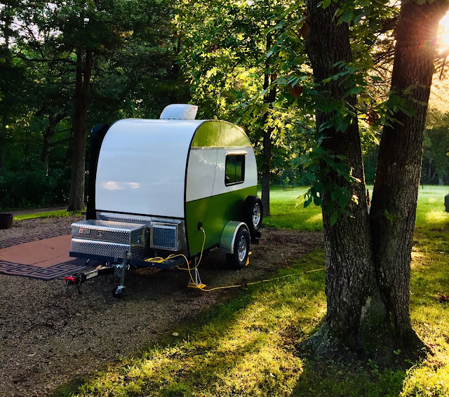 tiny trailer camping at Lacey Keosauqua State Park