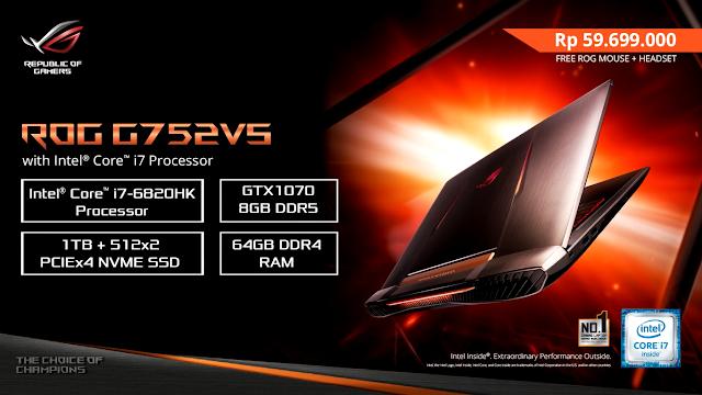 Asus Rilis Laptop Asus ROG Terbuas G752VS