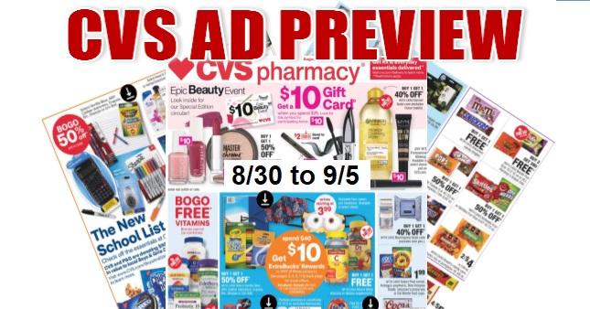 CVS Ad Scan 8/30 to 9/5