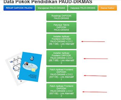 Patch dan Installer Dapodik PAUD Versi 2.0.2