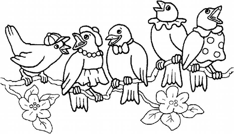 Basılabilir Okul öncesi Havada Yaşayan Hayvanlar Boyama