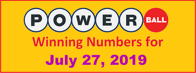 PowerBall Winning Numbers for Saturday, July 27, 2019