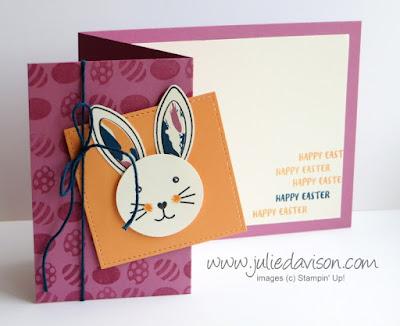 March 2017 Paper Pumpkin Bunny Buddies Alternative Card ~ Easter Card by Julie Davison, www.juliedavison.com